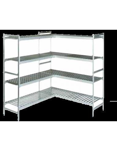 Estanter a aluminio y polietileno fondo 46 cm for Estanteria 20 cm fondo